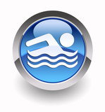 ''Swimming-pool'' glossy icon