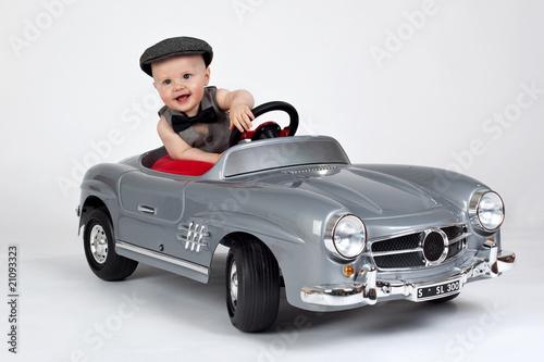 Leinwandbilder,baby,kind,autos,spaß