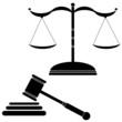 illustration of justice black vector