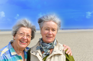 Two Senior Women at the Beach V