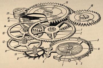 Old Clockwork Diagram