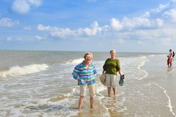 Two Senior Women at the Beach VIII
