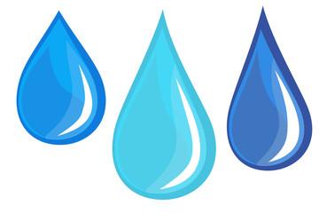 Water droplets Vectors