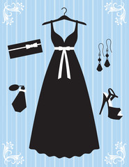 Woman Dress and Accessories