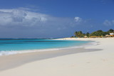 Deserted clean sandy beach on Anguilla, Caribbean