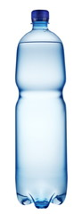 Plastic bottle of water