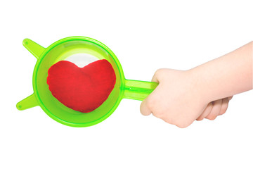 Heart in strainer