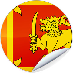 Sticker du Sri Lanka (détouré)