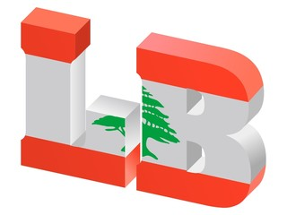 vector Internet top-level domain of Lebanon