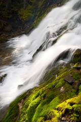 natural waterfall in mountains