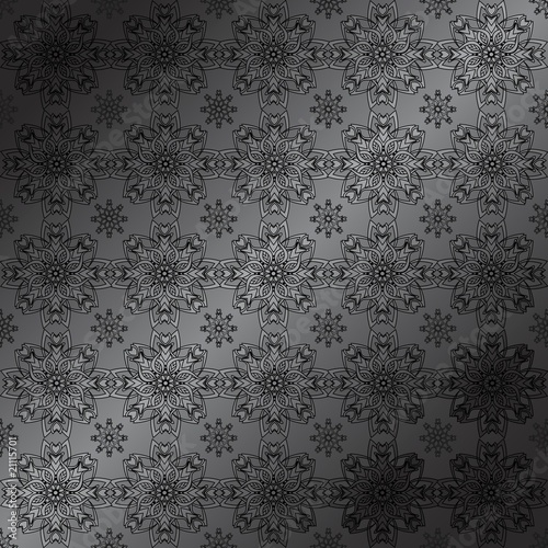 vector illustration of an abstract floral pattern