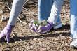Leinwanddruck Bild - community park cleanup