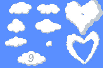 Assorted Cloud Vectors