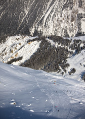 Winter Alps landscape
