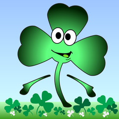 Cartoon Shamrock