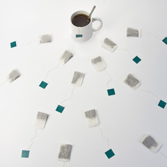 Cup of tea and teabags