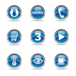 Collection of 9 pictos glossy icons web 2.0