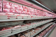 Shelves with meat - 21121716