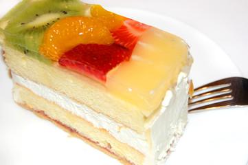 Peace of fruite cake