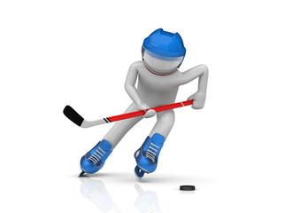 Hockey player close-up