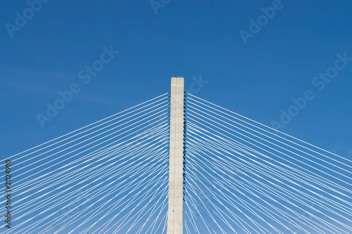 detail of  bridge in Lisbon, Portugal