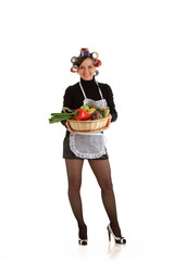 Housewife with Vegetables
