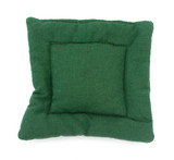 Pillow green square shaped home decoration