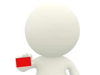 3D man - red business card