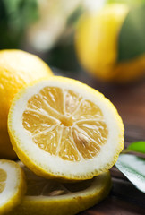 Fresh Lemon.Selective focus