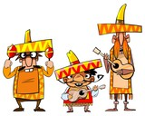 Fototapety Funny mexican pop group