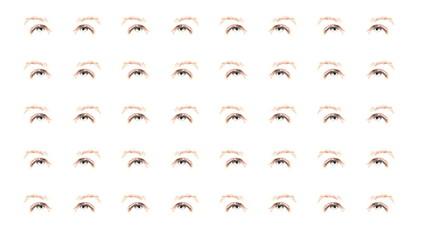 ojos azules en movimiento