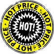 Grunge hot price stamp, vector illustration