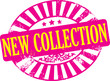 Grunge new collection stamp, vector illustration