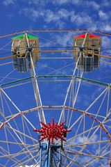 Ferris Wheel Amusement Ride at Fairground