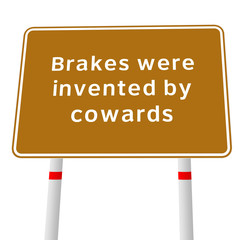 funny message about brakes