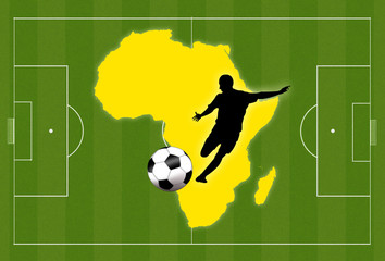 Africa football background