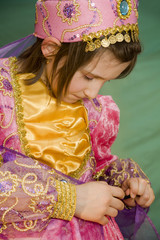 little girl in the carnival clothes - arabic