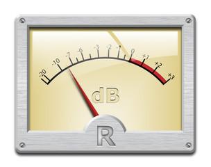 Analog signal meter on white background, vector illustration