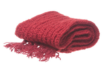 Nepalese Woolen Scarf Isolated