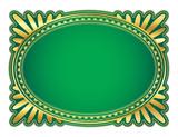 elegant oval frame with decorative filigree poster