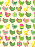 Seamless easter background