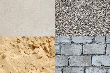 Breakstone, sand, cement, stone texture