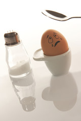 fine di un uovo alla coque