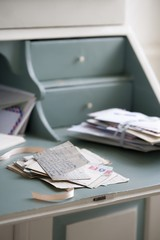 Letters on writing desk