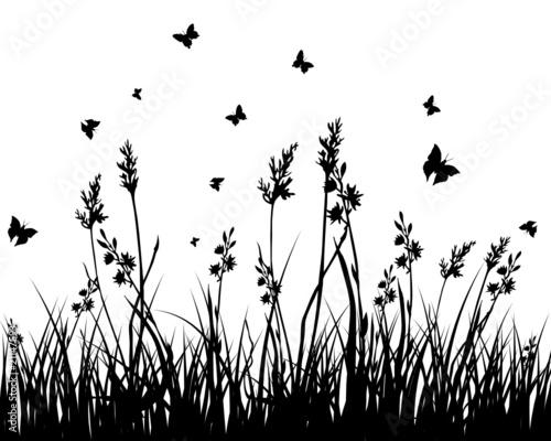 Naklejka grass background