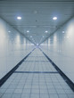 Long walkway in underground passage