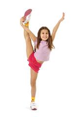 Little girl doing the splits