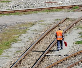 rail worker flag