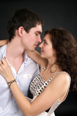 Beautiful sexual couple in love