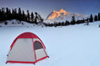 Tent and mt shuksan